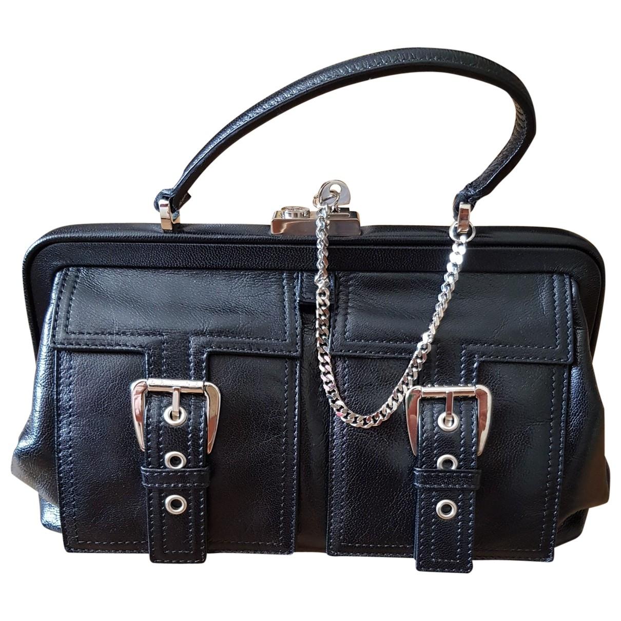 Celine \N Handtasche in  Schwarz Leder