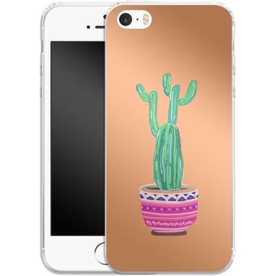 Apple iPhone 5 Silikon Handyhuelle - Cacti Love von Mukta Lata Barua