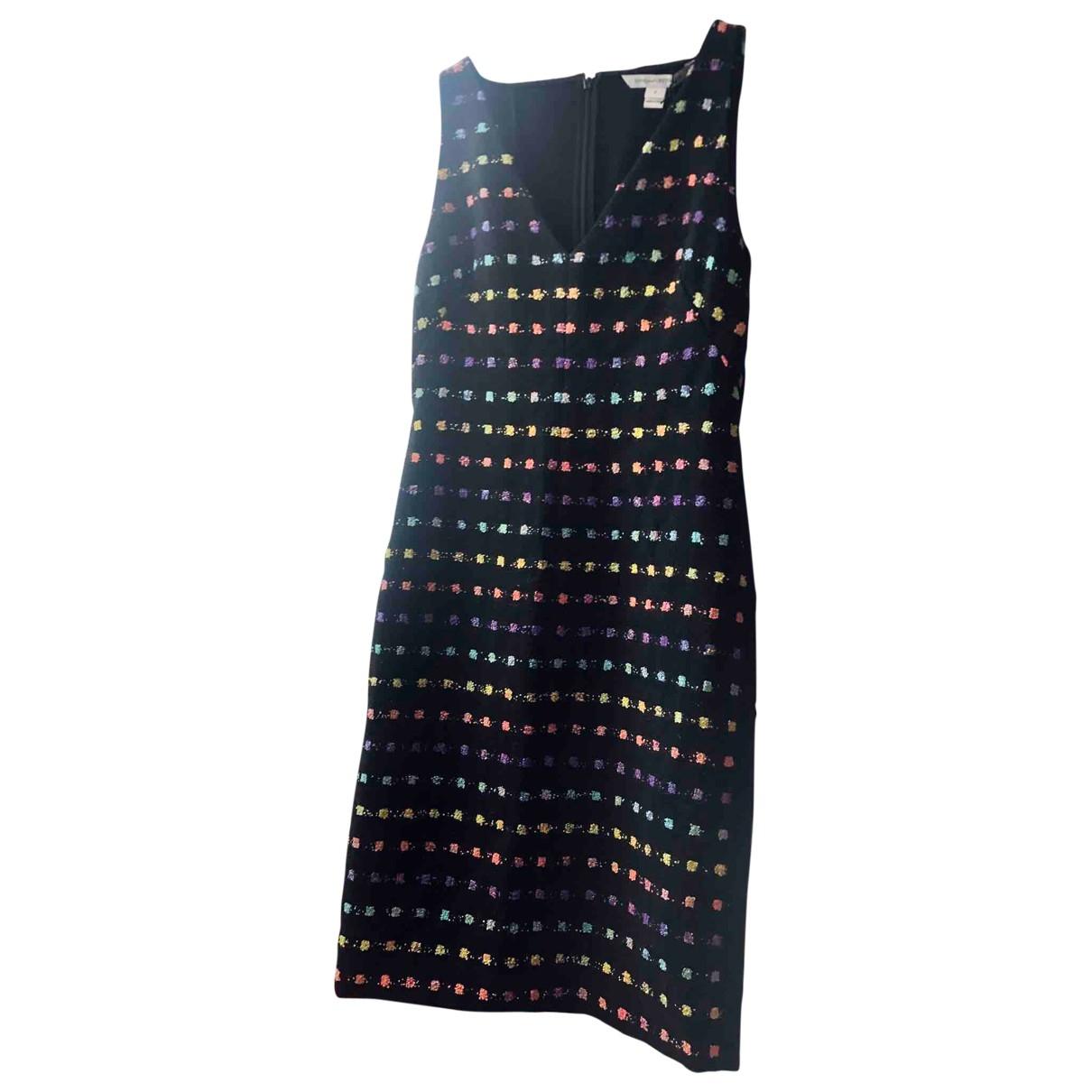 Diane Von Furstenberg \N Kleid in  Schwarz Tweed