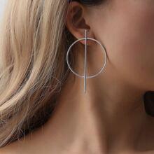 1pair Hoop Bar Stud Earrings