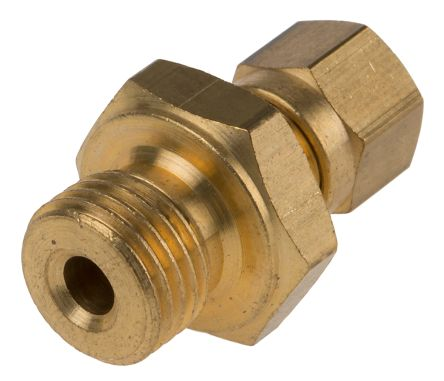 RS PRO Thermocouple Compression Fitting for use with Thermocouple With 4.5mm Probe Diameter, 1/8 BSPP