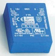 Block 8V ac 2 Output Through Hole PCB Transformer, 6VA
