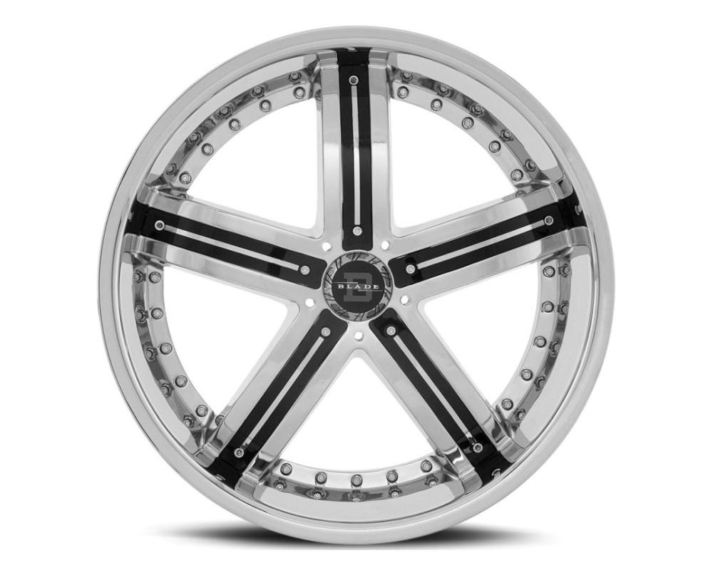 Blade BL-404 Raider Wheel 20x8.5 5x120 35mm Chrome w/ Black Insert