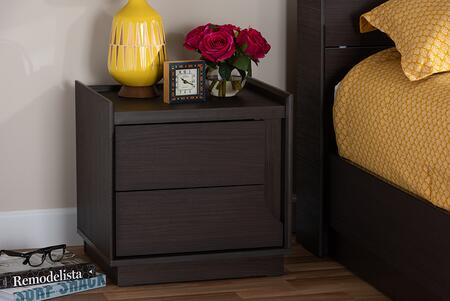 YCNT00904-MODI WENDE-NS Baxton Studio Larsine Modern and Contemporary Brown Finished 2-Drawer