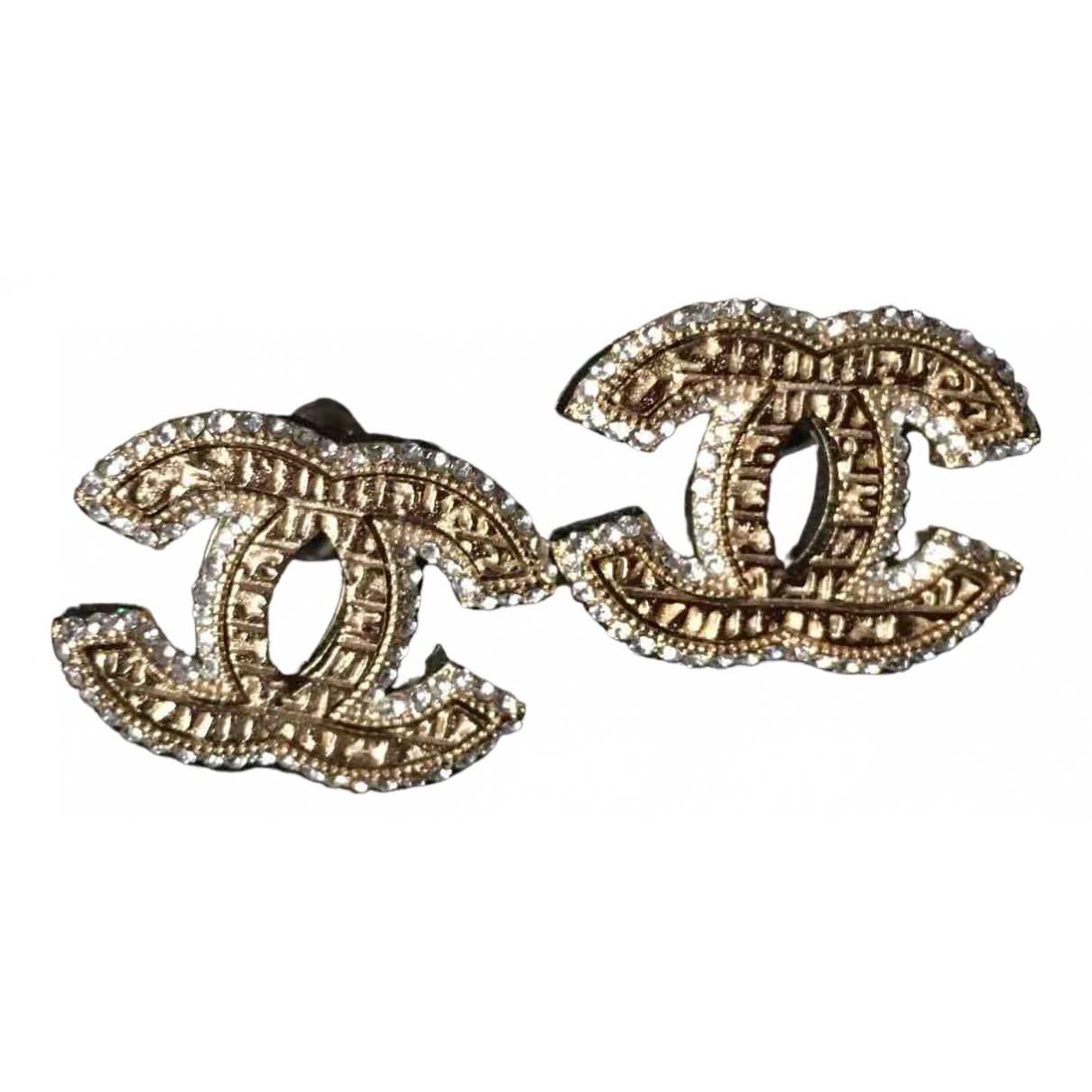 Chanel CC Gold Crystal Earrings for Women \N