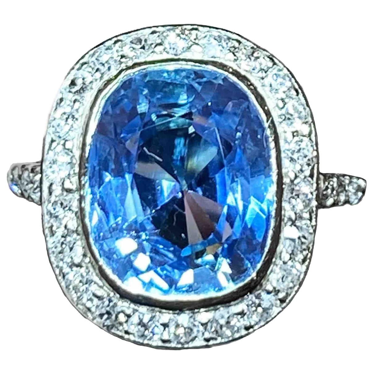 Boucheron \N Ring in  Blau Weissgold
