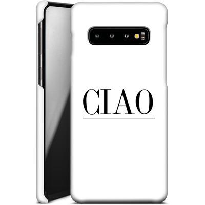 Samsung Galaxy S10 Smartphone Huelle - Just CIAO! von Erik Scholz