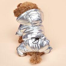 Metallic Hooded Dog Jumpsuit