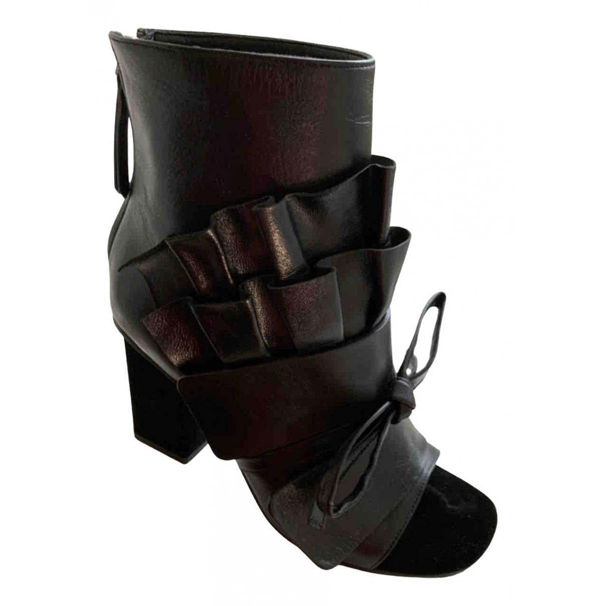 Emilio Pucci - Boots   pour femme en cuir - noir