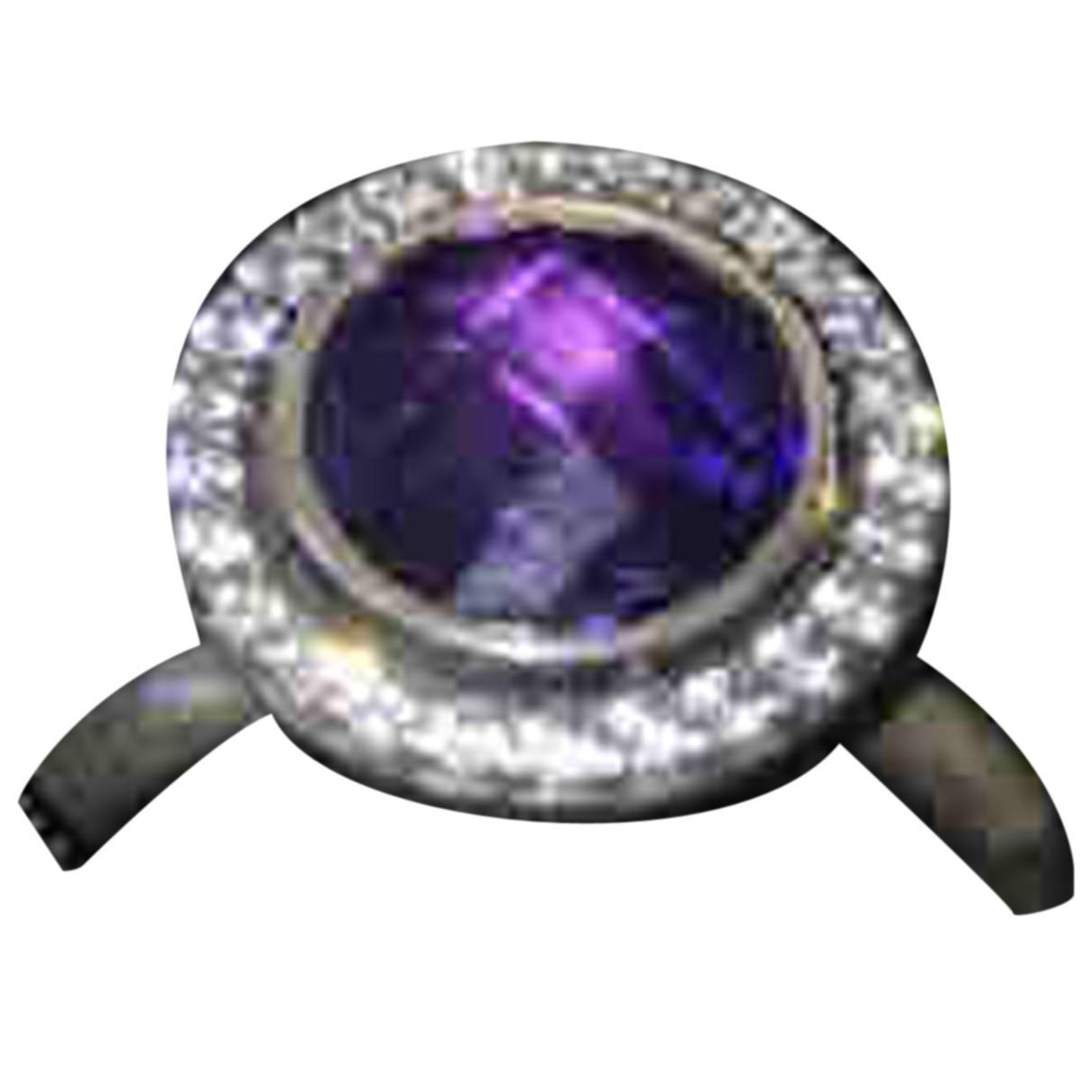 Pandora \N Ring in  Lila Silber