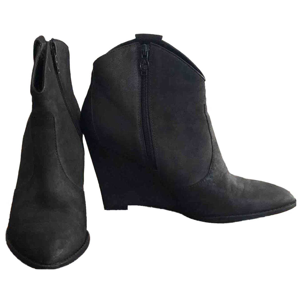 Ash \N Stiefeletten in  Schwarz Leder