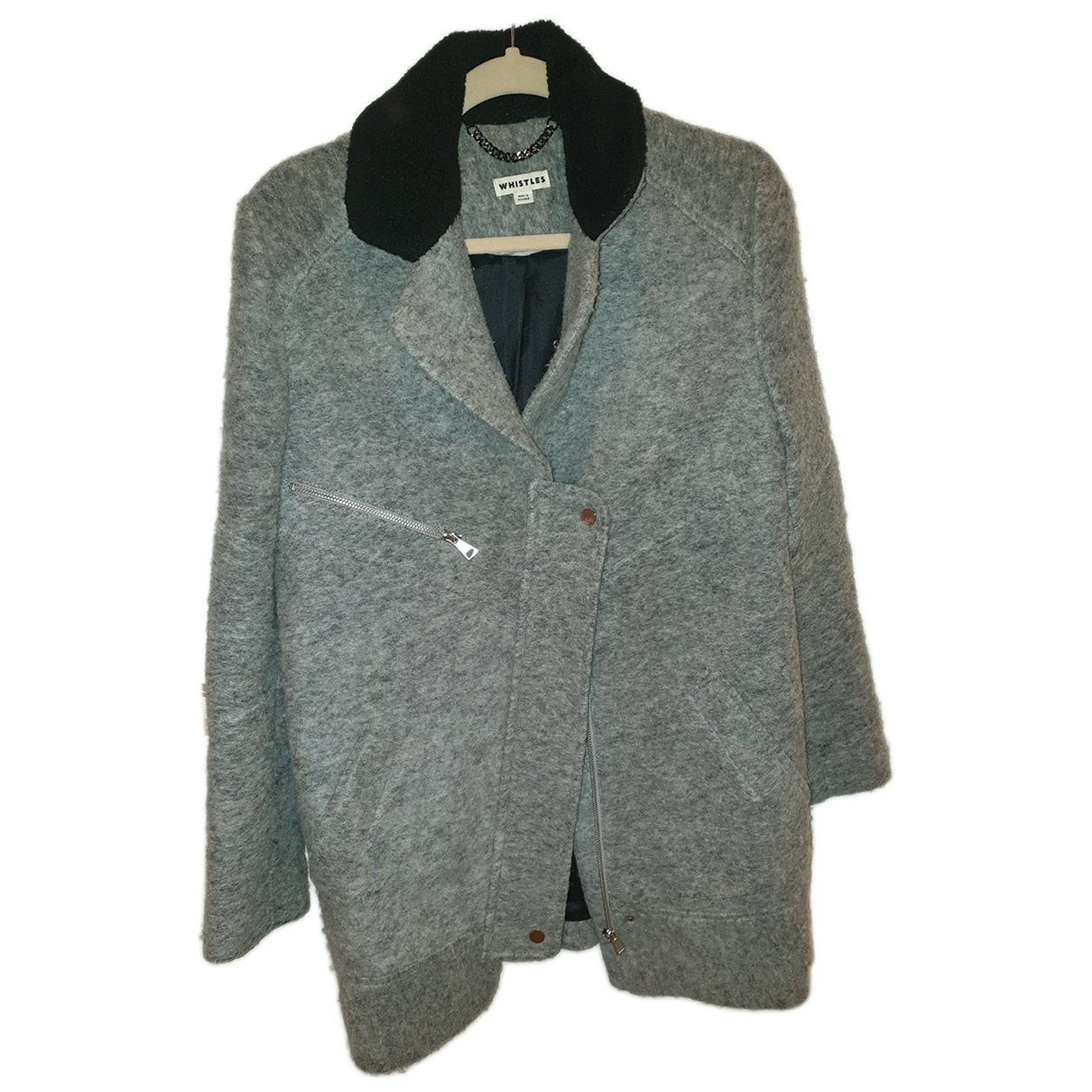 Whistles - Manteau   pour femme en laine - gris