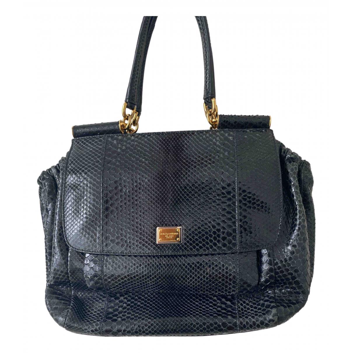 Dolce & Gabbana Sicily Black Python handbag for Women \N