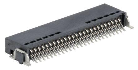 ERNI , SMC, 50 Way, 2 Row, Right Angle PCB Header