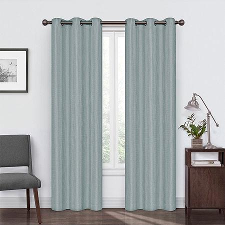 Eclipse Reagan Blackout Grommet-Top Single Curtain Panel, One Size , Blue