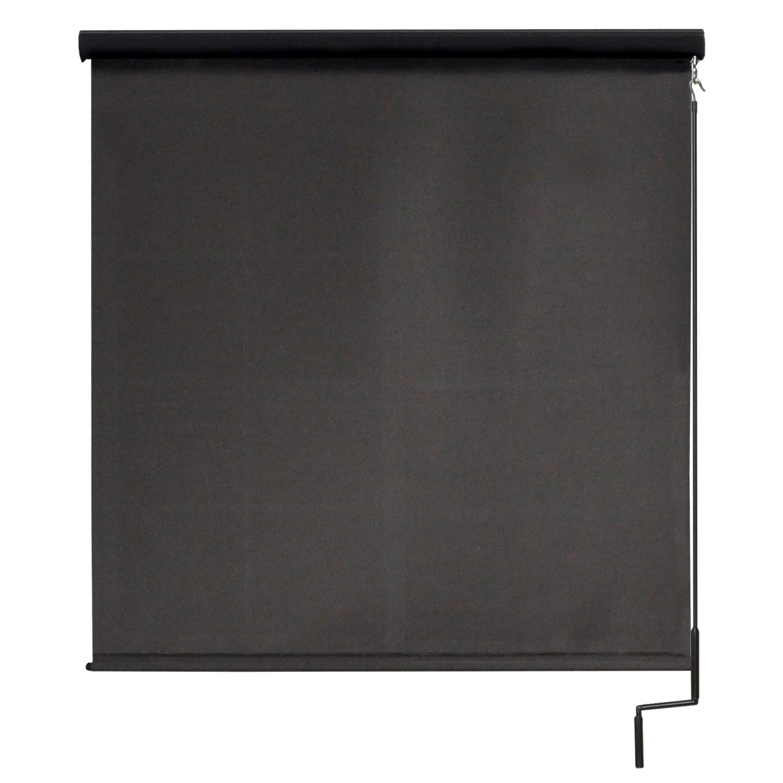 Premier Cordless Outdoor Sun Shade with Protective Valance, 10' W x 8' L, Mahogany