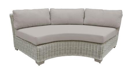 TKC038b-CAS-BEIGE Curved Armless Chair - 2 Sets of Beige