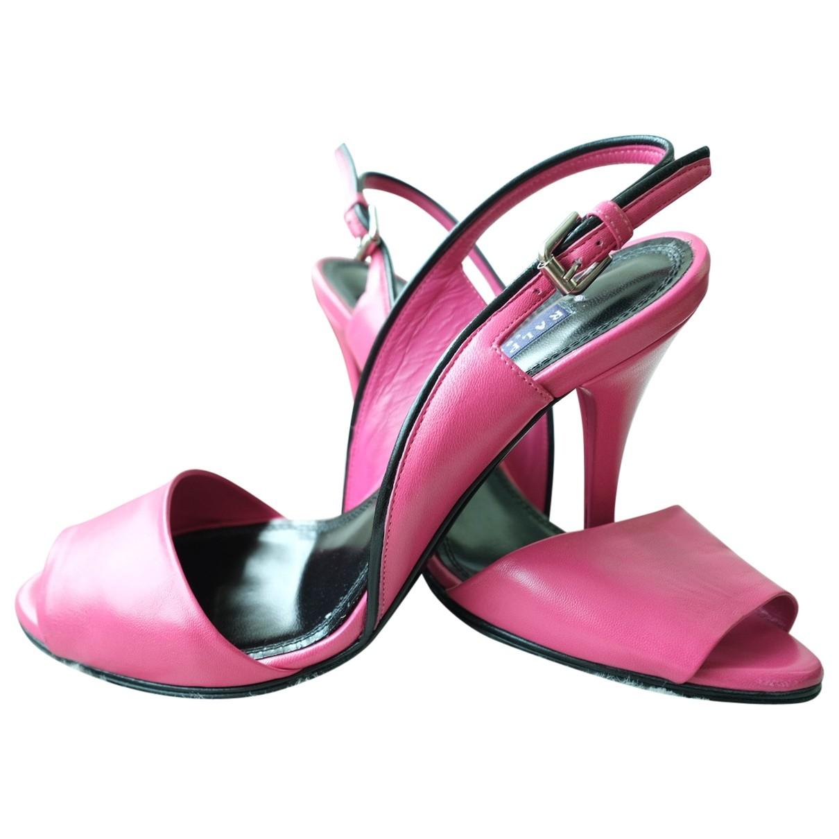 Ralph Lauren Collection \N Pink Leather Heels for Women 6.5 US