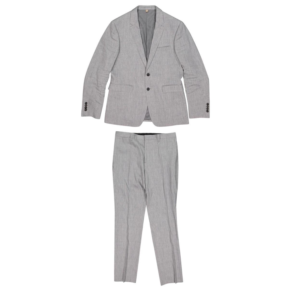 Burberry - Vestes.Blousons   pour homme en lin - gris