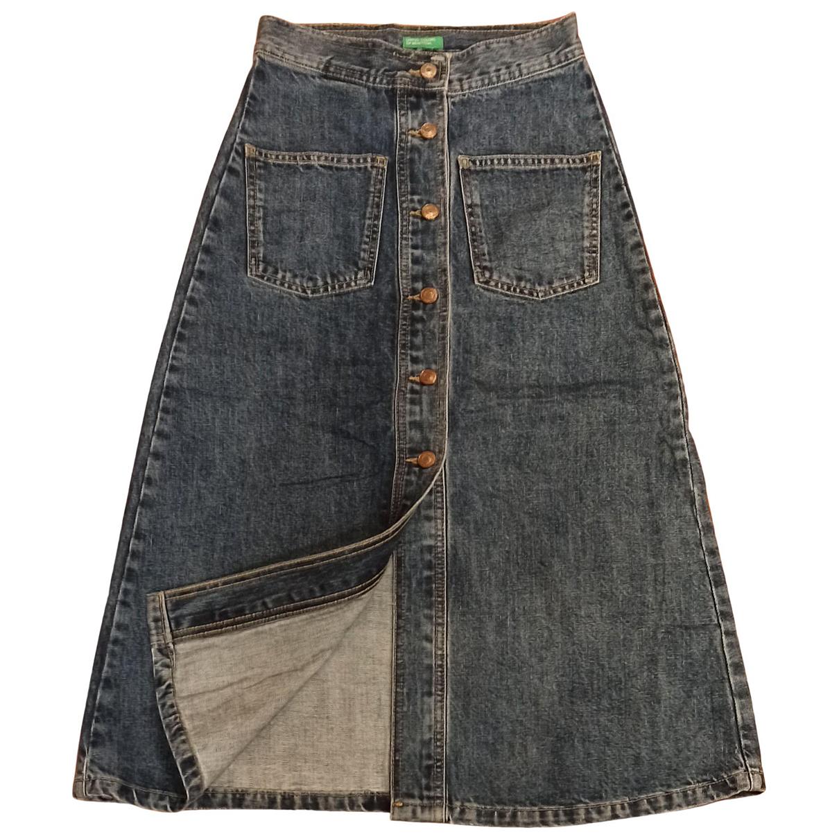 Benetton \N Rocke in  Blau Denim - Jeans
