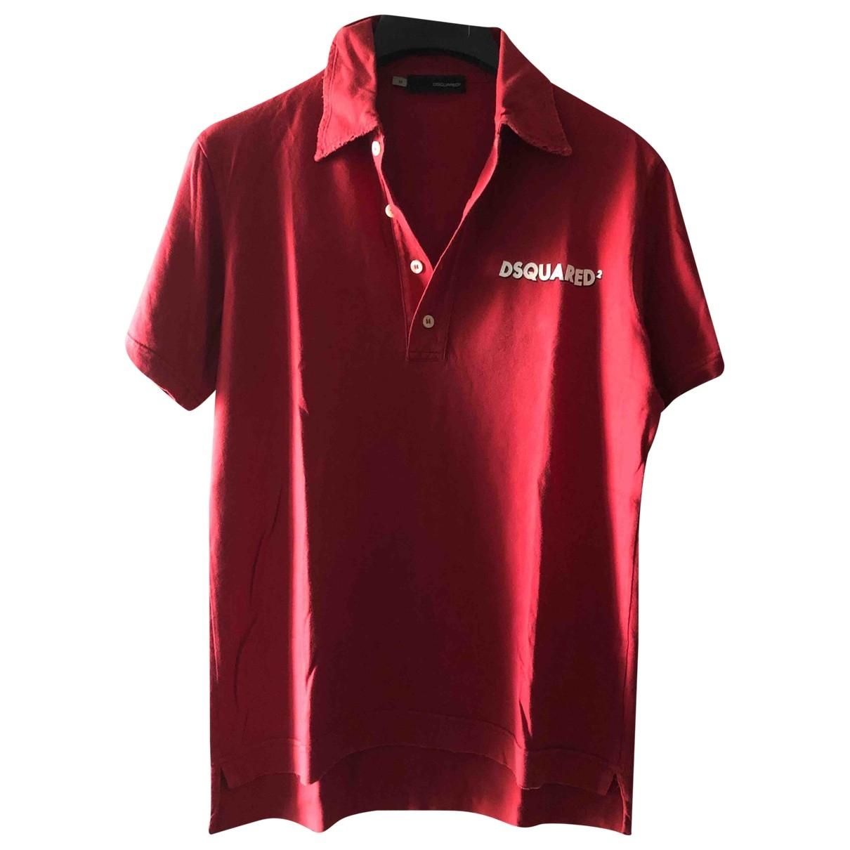 Dsquared2 - Polos   pour homme en coton - rouge