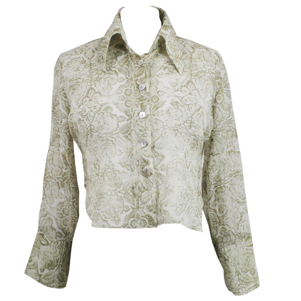Dries Van Noten \N Gold Silk  top for Women 40 FR