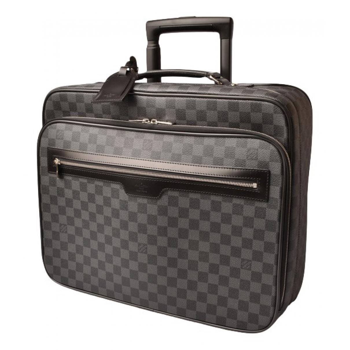 Louis Vuitton - Sac de voyage   pour femme en toile - anthracite