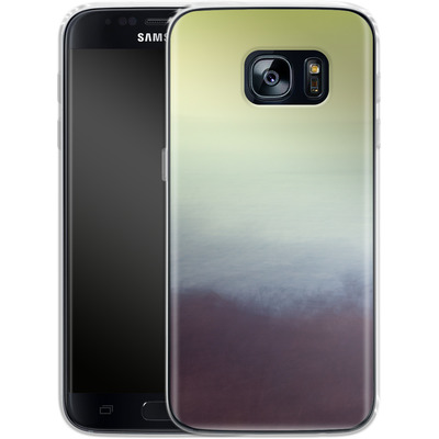 Samsung Galaxy S7 Silikon Handyhuelle - Sea and Sky von Joy StClaire