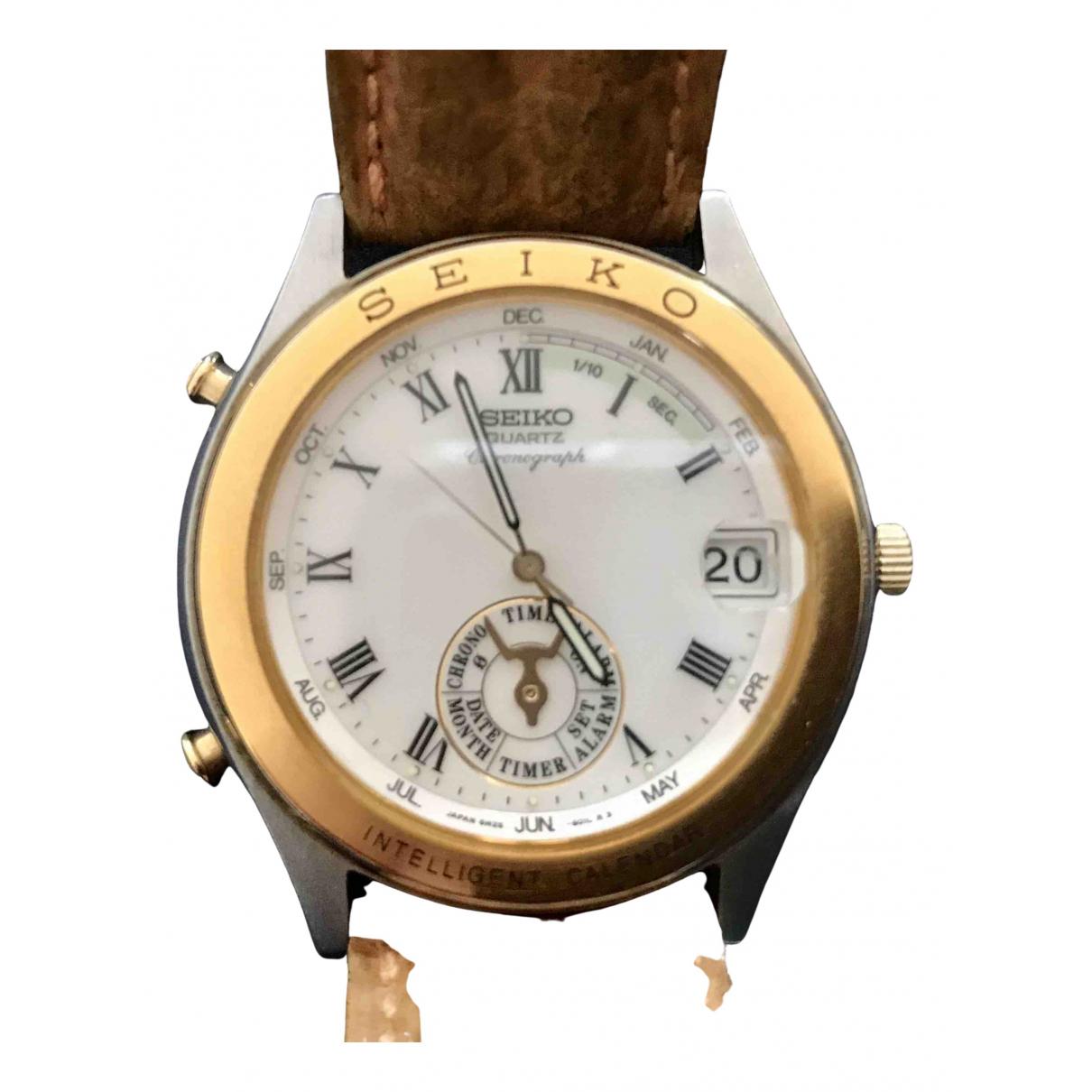 Seiko N Gold Steel watch for Men N
