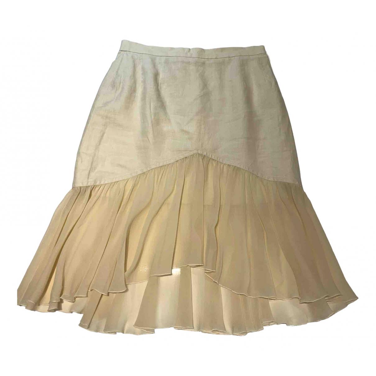 Chanel \N Yellow Silk skirt for Women 40 IT