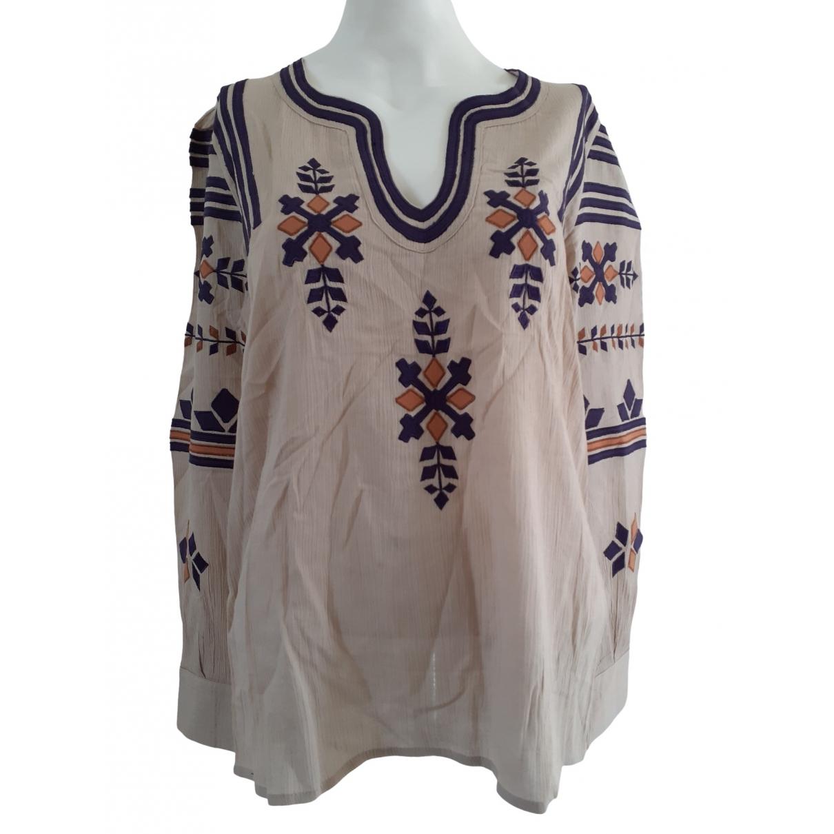Antik Batik - Top   pour femme en coton - beige