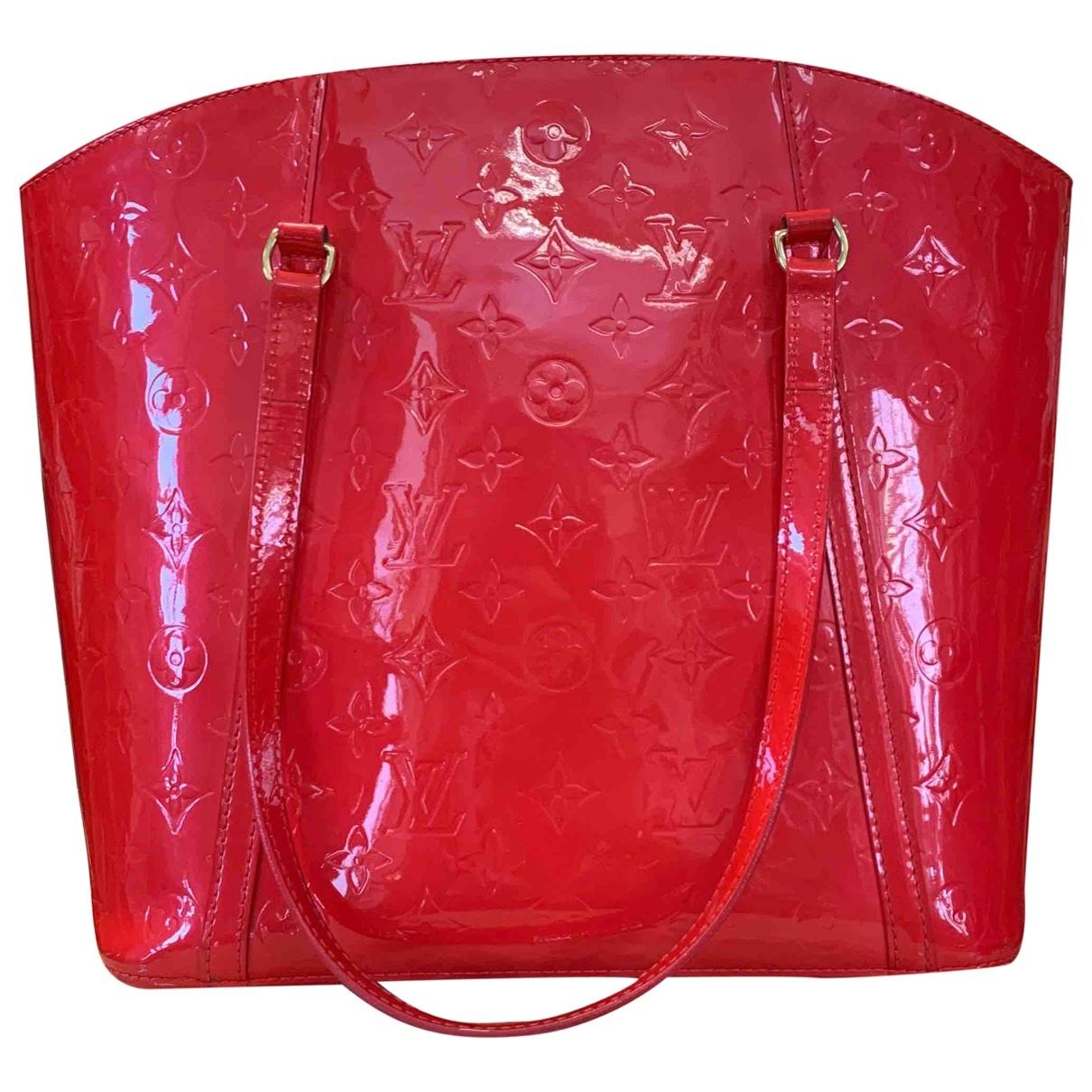 Louis Vuitton - Sac a main Avalon pour femme en cuir - rouge