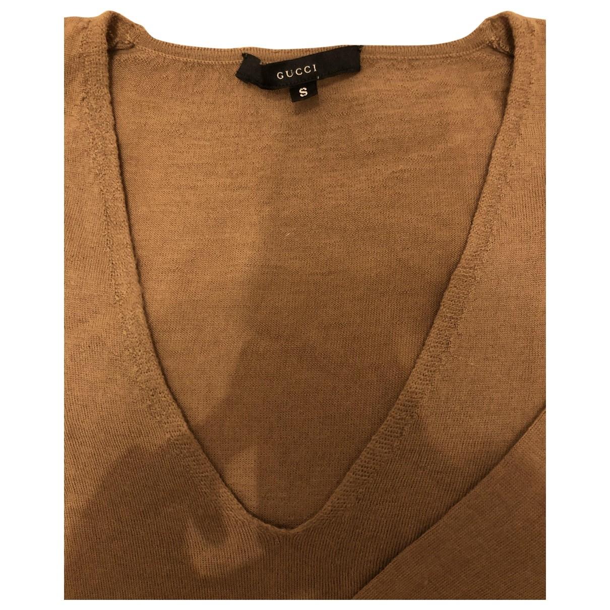Gucci - Pull   pour femme en laine - camel