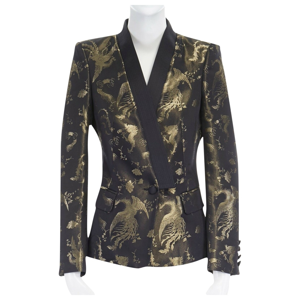 Roberto Cavalli \N Gold jacket for Women 40 IT