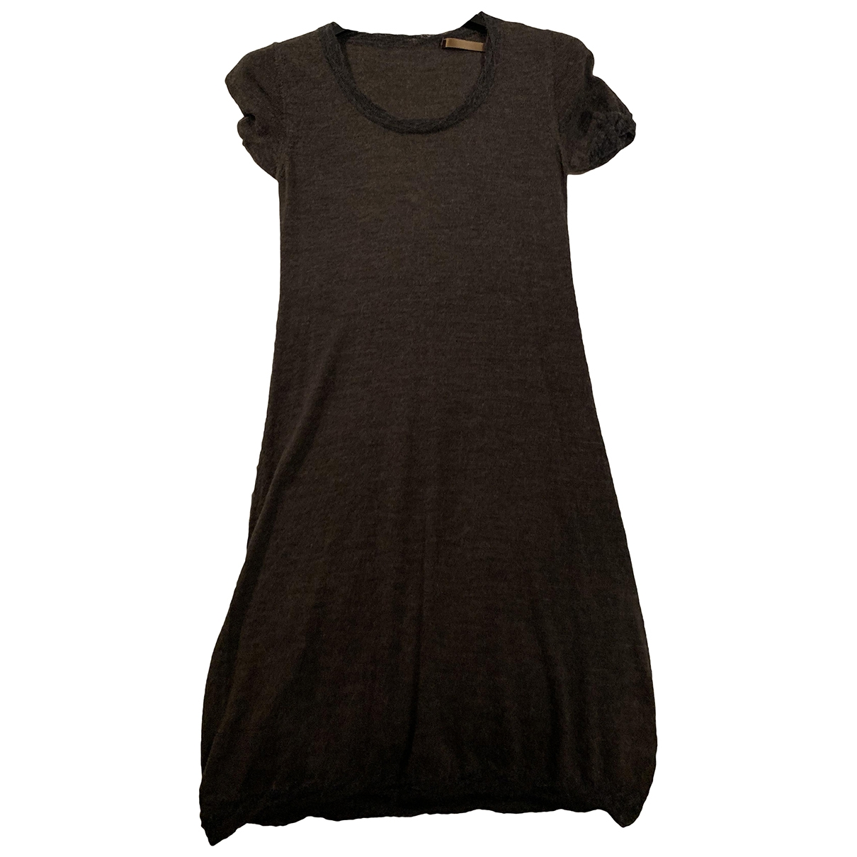 Non Signé / Unsigned \N Brown Wool dress for Women 36 IT