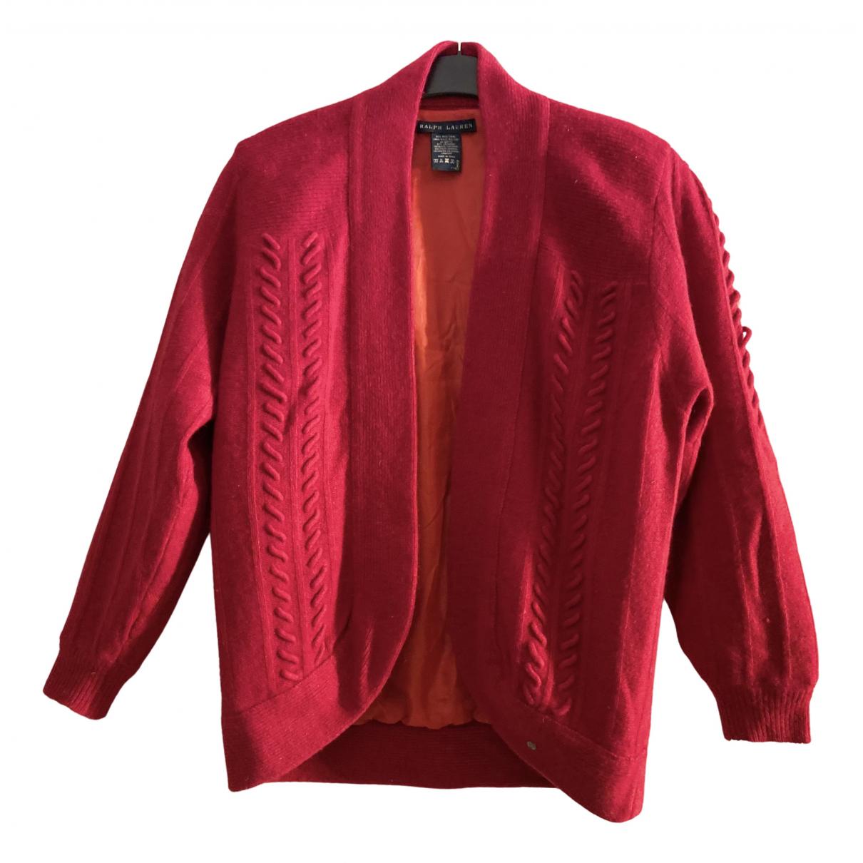 Ralph Lauren - Veste   pour femme en cachemire - rouge