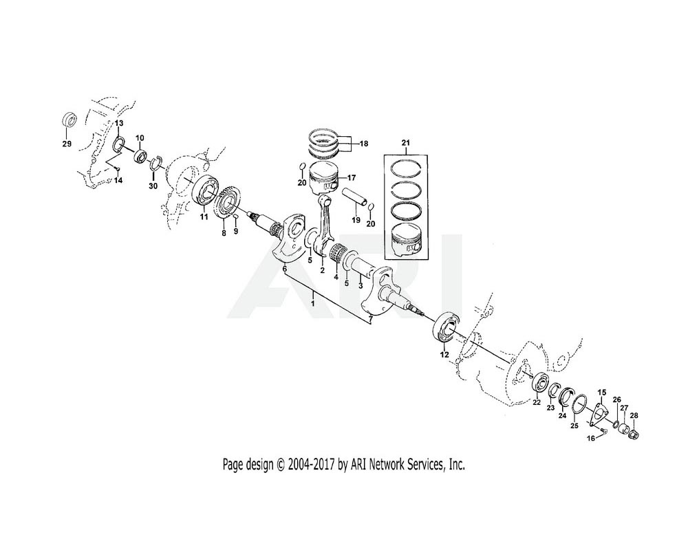 Arctic Cat OEM 3402-116 Pin Crank | (400)