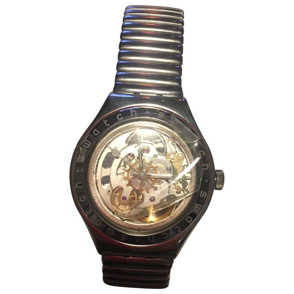 Swatch \N Uhr in Stahl