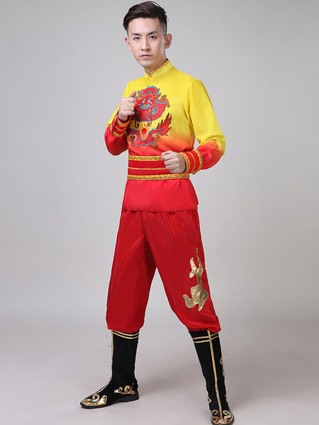 Milanoo Traditional Chinese Costumes Dragon Kung Fu Tang Suit Carnival Costumes