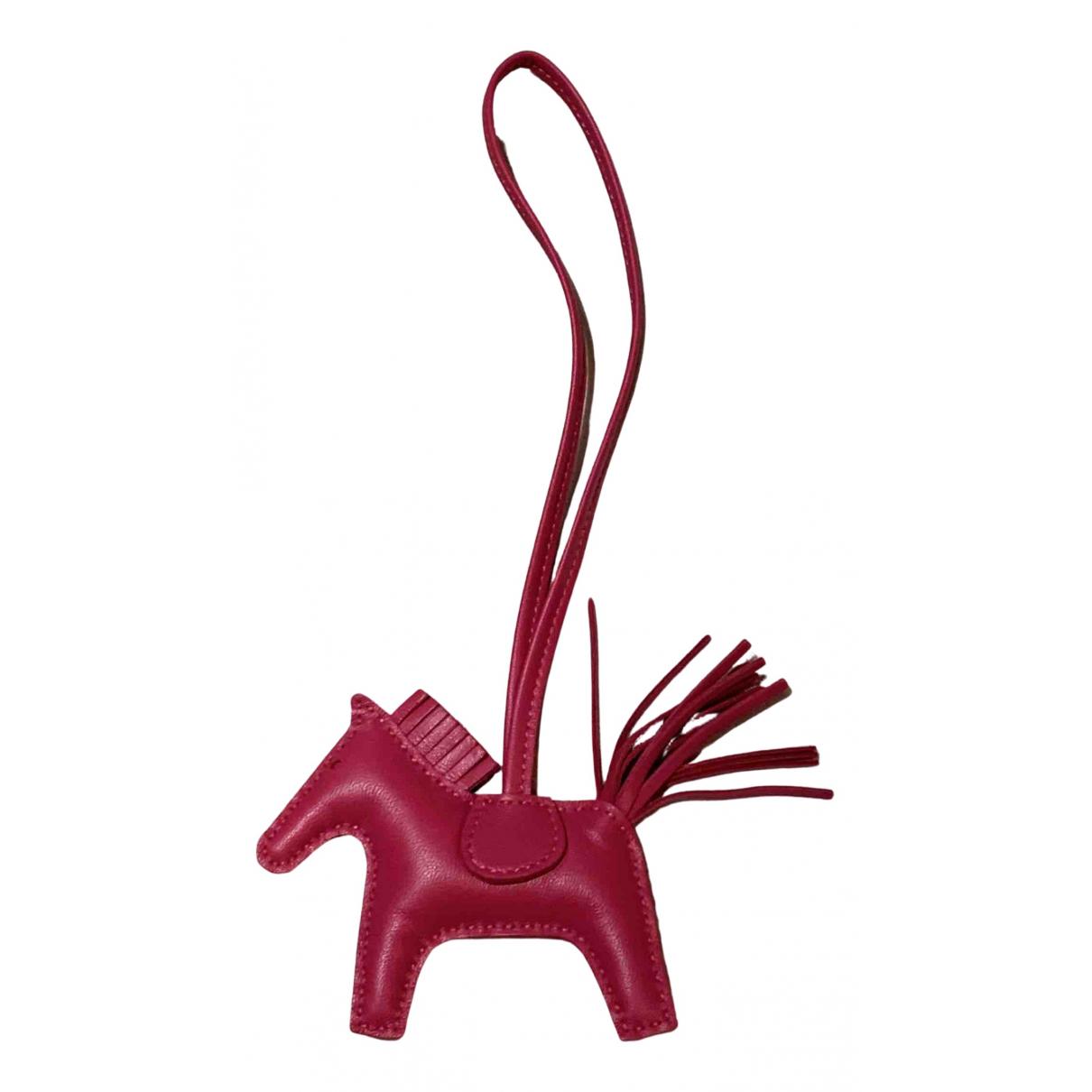Hermes Rodeo Taschenschmuck in  Rot Leder