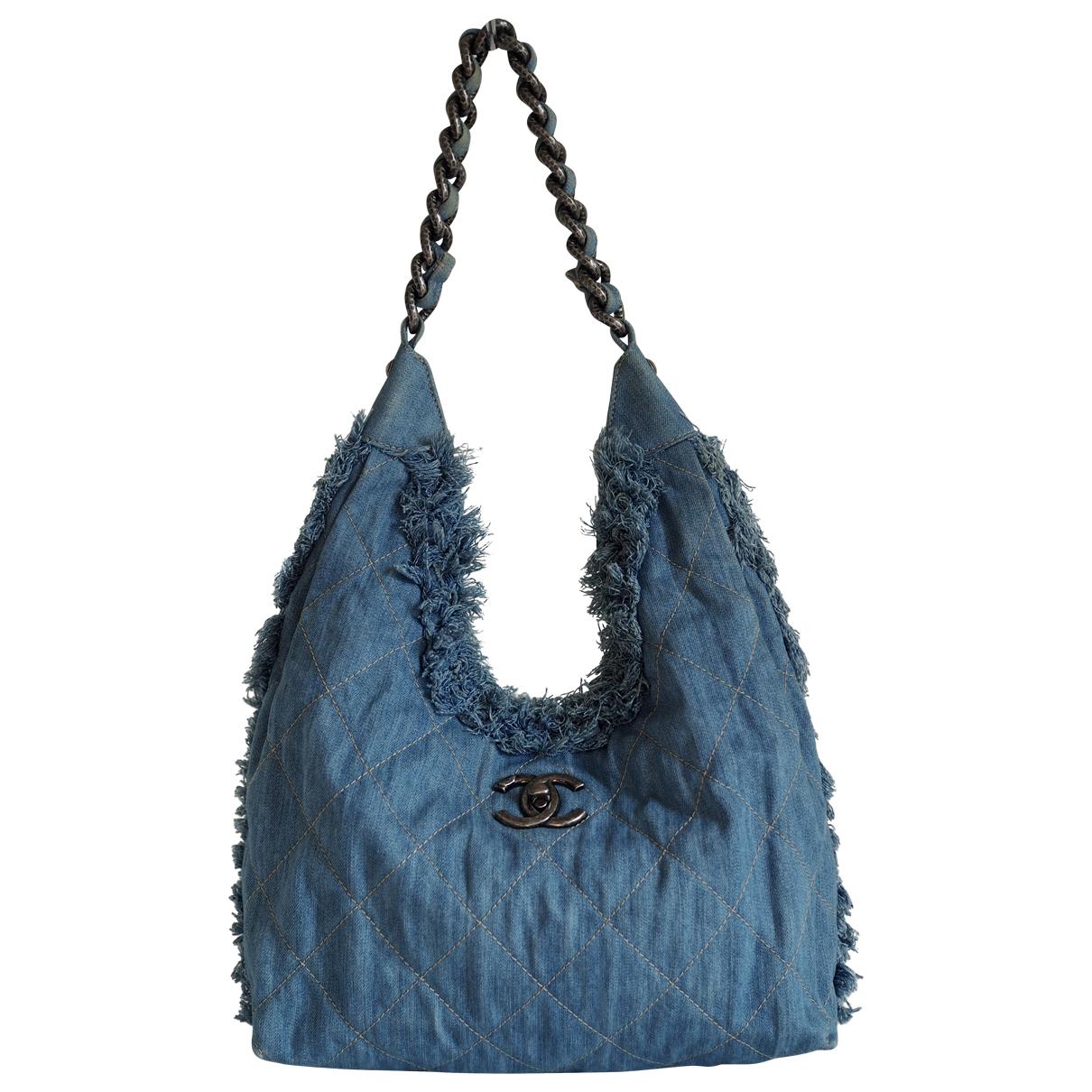 Chanel \N Handtasche in  Blau Denim - Jeans