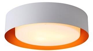 Lynch Collection B4106G Flush Mount Ceiling Light in White and Gold