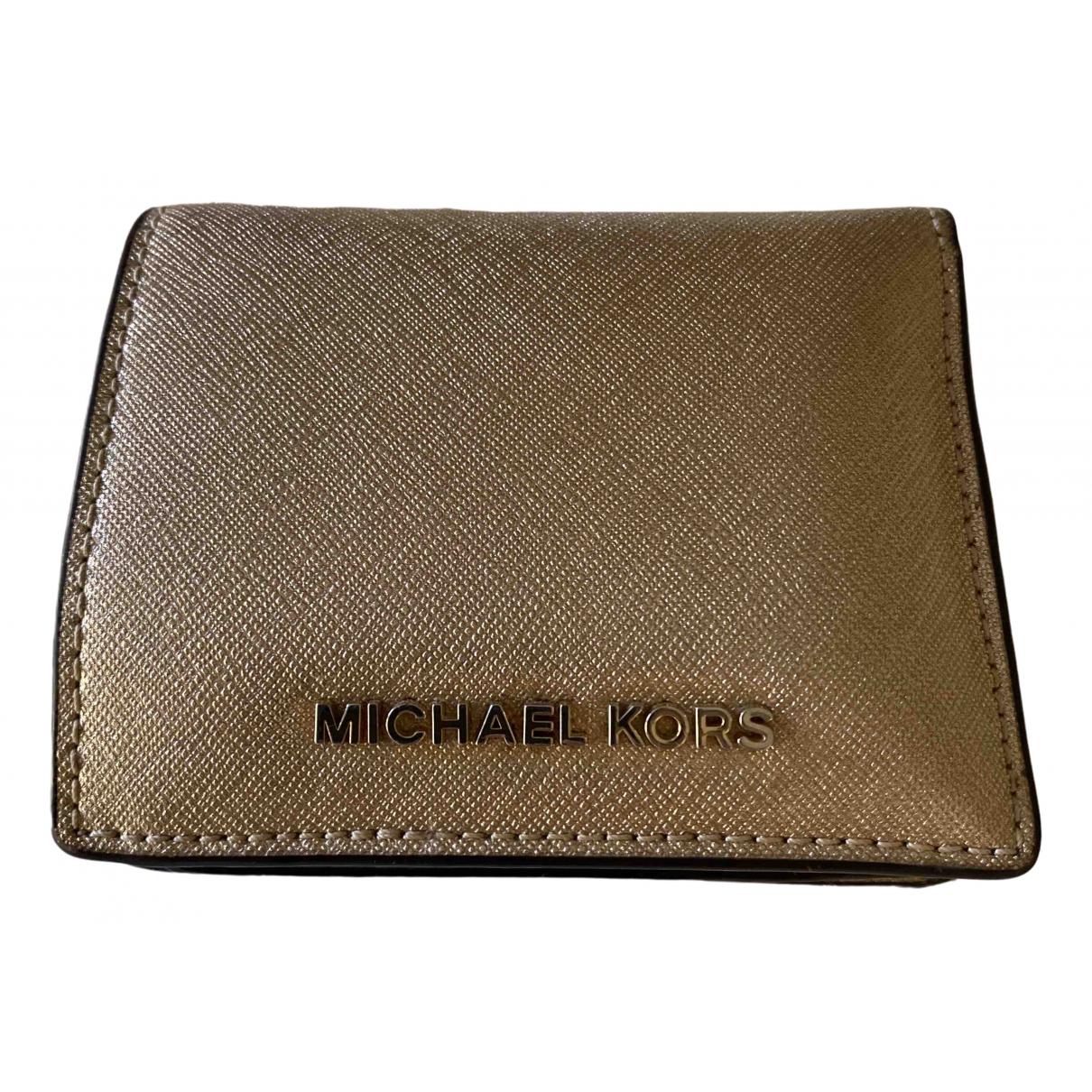 Michael Kors - Portefeuille   pour femme en fourrure - dore