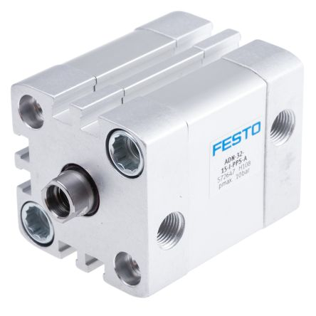 Festo Pneumatic Cylinder 32mm Bore, 15mm Stroke, ADN Series, Double Acting