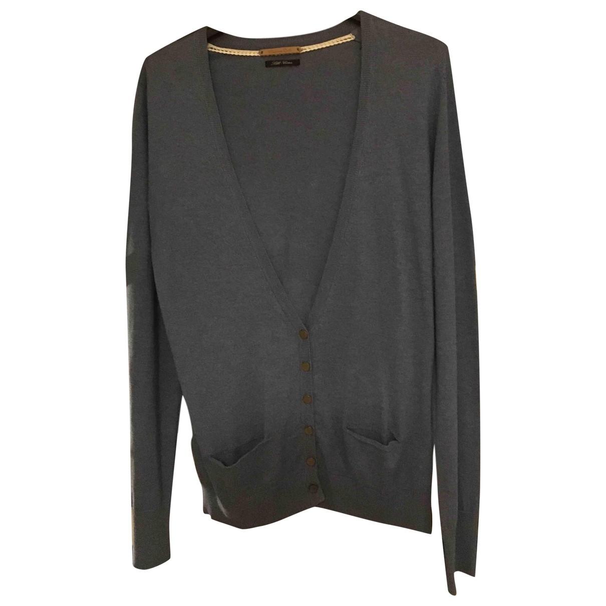 Massimo Dutti - Pull   pour femme en coton - bleu
