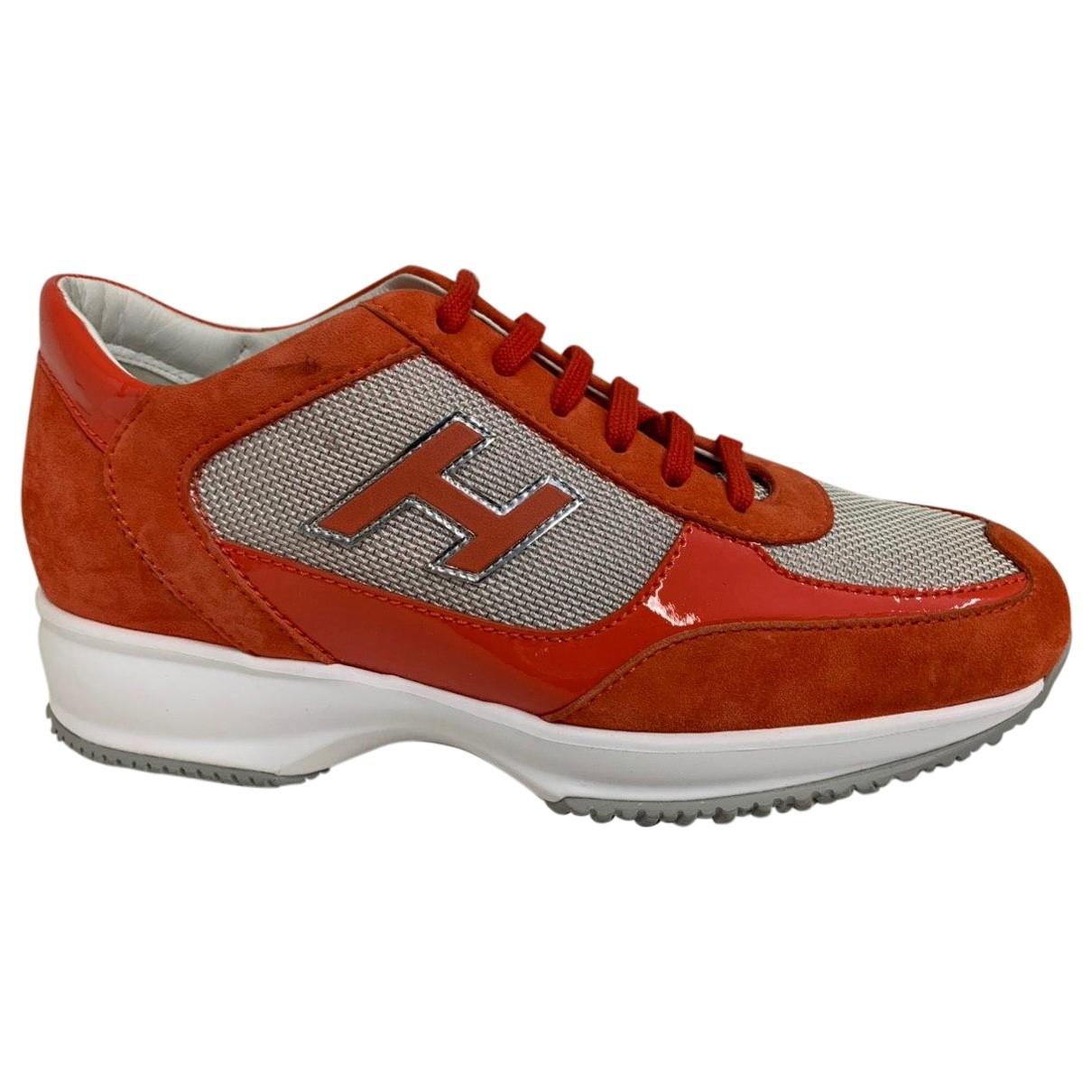 Hogan \N Sneakers in  Orange Lackleder