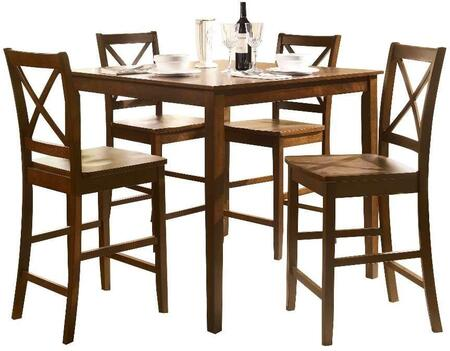 Martha Collection 07550 5 PC Counter Height Dining Set with Square Shaped Table
