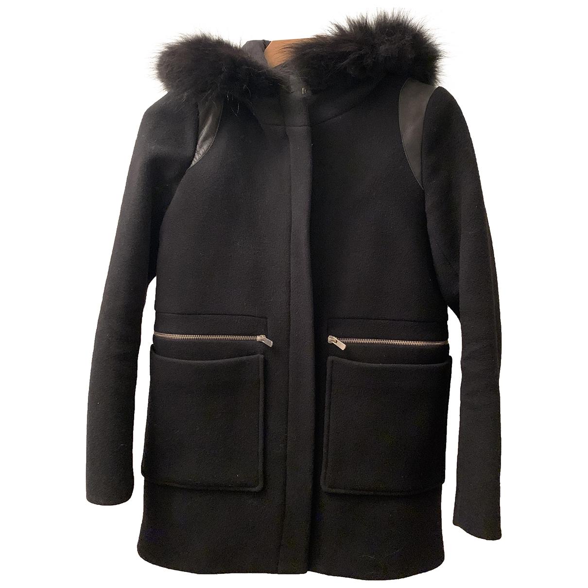 Maje \N Blue Wool coat for Women 36 FR