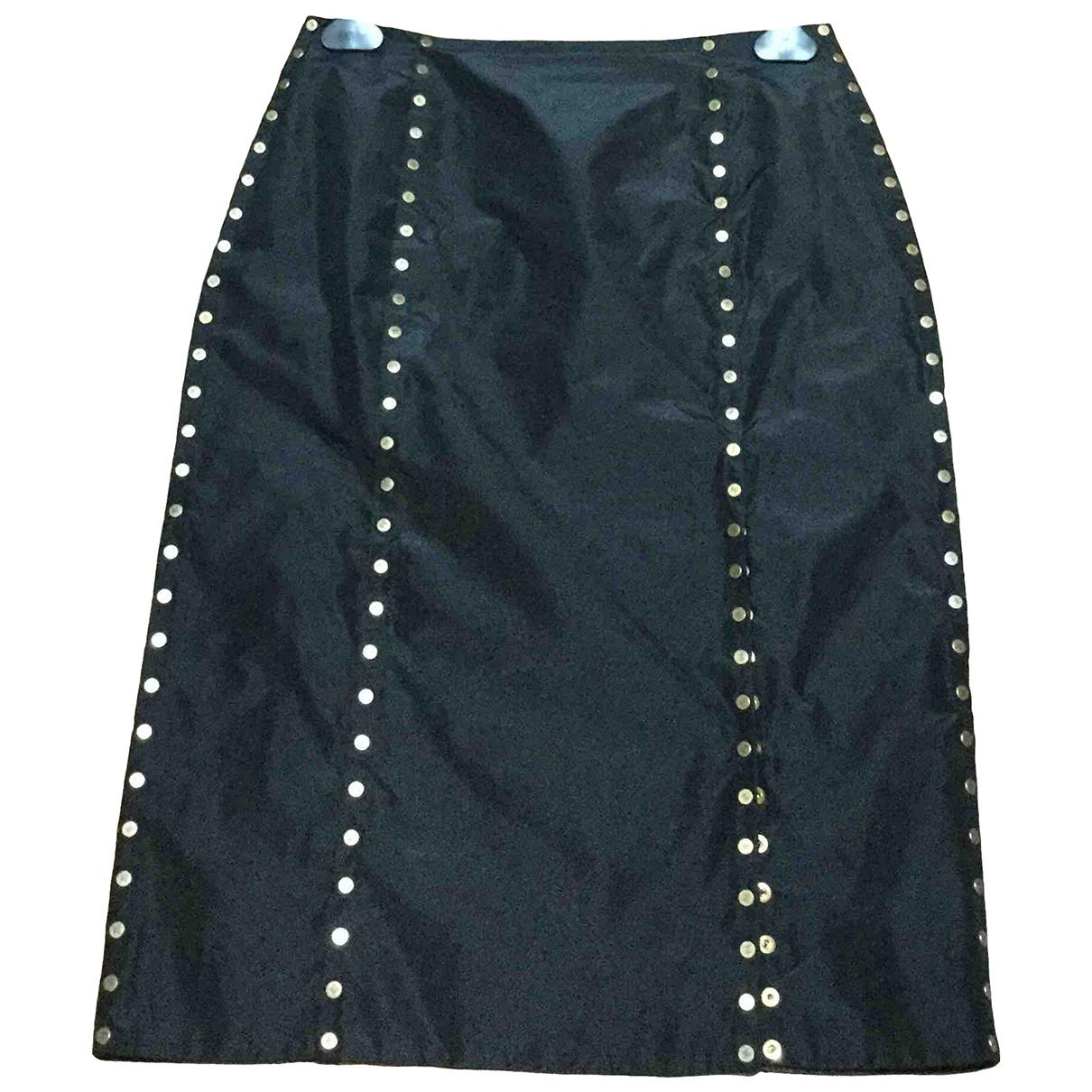 Celine \N Black Silk skirt for Women 36 FR