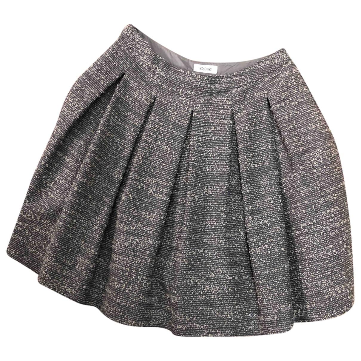 Moschino - Jupe   pour femme en laine - gris